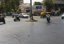 latest-news/ahmedabad-news/civic-issues/tar-on-the-stretch-of-recently-resurfaced-road-near-bhimjipura-melt