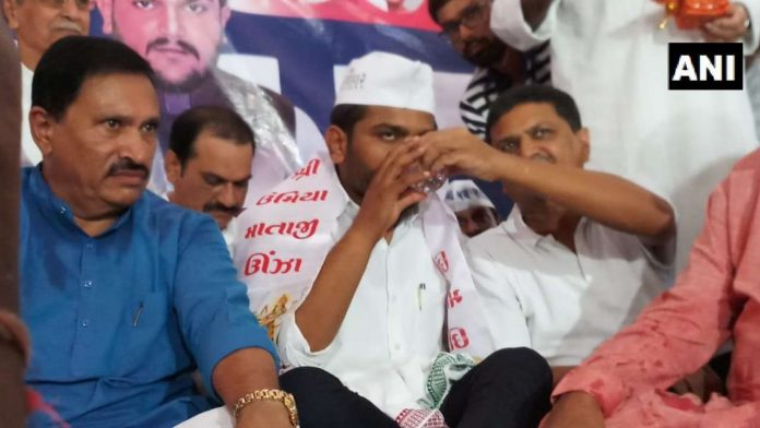 Hardik Patel breaks 'fast unto death' after 19 days; no talks with govt yet