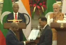 india maldeves signs 4 mous pm narednra modi maldeves president ibrahim mohamed solih